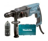 Makita HR2470FT SDS-plus Martillo combinado incl. portabrocas de acción rápida en maletín - 780W - 2,4J