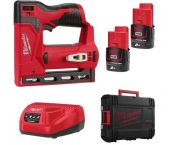 Milwaukee M12 BST-202X 12V litio-Ion Grapadora (2x baterías 2.0Ah) en caja HD - 6-14mm - 4933459635