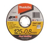 Makita B-45733 Disco de corte - 125 x 22,23 x 0,8mm - Acero inoxidable