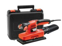 Black and Decker KA320EKA Lijadora orbital compacta en maletín - 240W - 91 x 189mm
