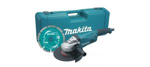 Makita GA9020KD Amoladora angular incl. disco de diamante en maletín - 2200W - 230mm